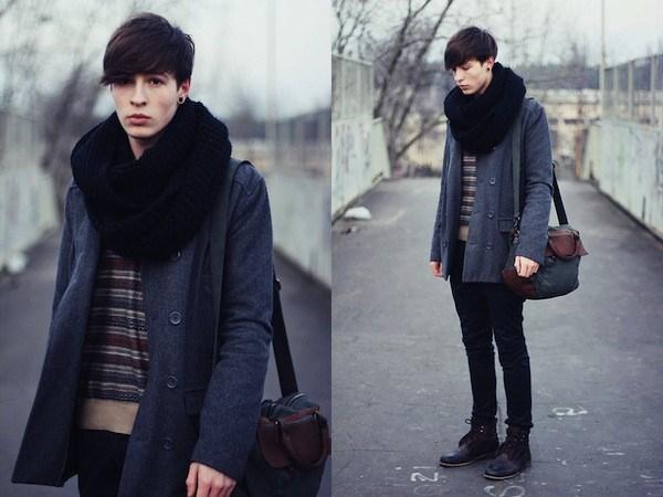 Mix áo khoác nam dáng dài phong cách hàn cá tính
