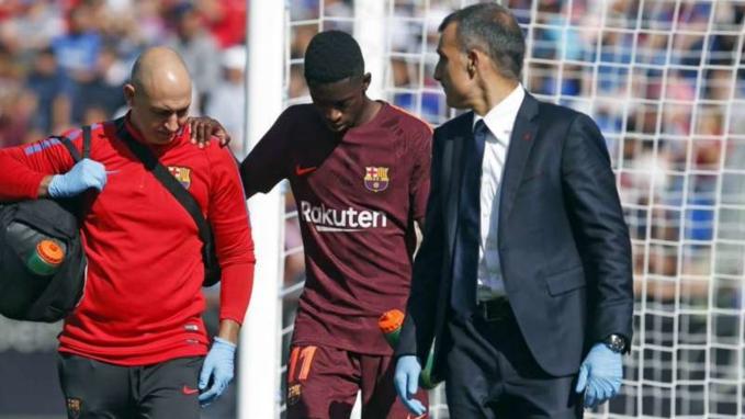 Ousmane dembele nghỉ hết năm vì chấn thương