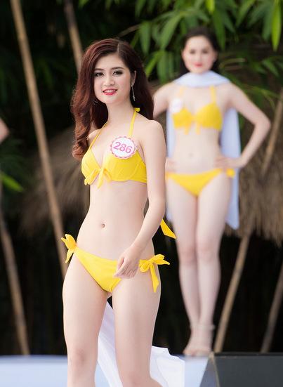 Thí sinh hoa hậu trần huyền trang có vòng eo 56 cm